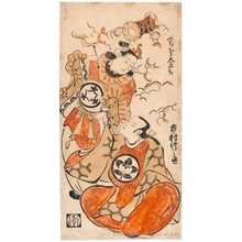 Torii Kiyomasu I: The Actors Ichimura Takenojö IV and Fujioka Daikichi - Honolulu Museum of Art
