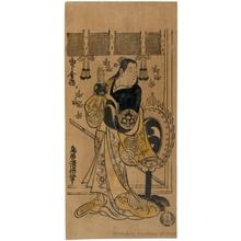 鳥居清倍: Yamashita Kinsaku as a Gagaku Dancer - ホノルル美術館