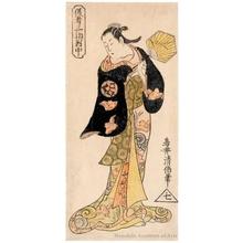 Torii Kiyomasu II: Three Actors, center: Yamashita Kinsaku - Honolulu Museum of Art