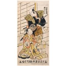 鳥居清倍: Bandö Hikosaburö and Tsugawa Kamon - ホノルル美術館