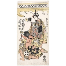 鳥居清満: Ötani Hiroji as Sakata no Kintoki and Onoe Matsusuke as Bijo Gozen - ホノルル美術館