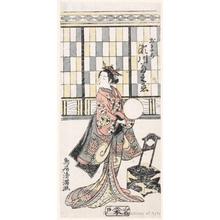 鳥居清満: Segawa Kikunojö II as Omachi - ホノルル美術館