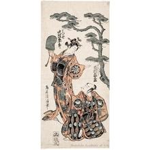 鳥居清満: Ichimura Kamezö I as Yukihira and Nakamura Tomijürö I as Matsukaze - ホノルル美術館