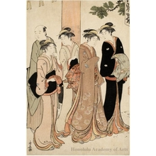 Torii Kiyonaga: Marriage Interview on the Temple Grounds - Honolulu Museum of Art