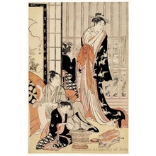 Torii Kiyonaga: Snowy Morning at the Brothel - Honolulu Museum of Art
