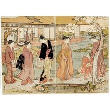 鳥居清長: A Picnic In A Daimyo's Garden - ホノルル美術館