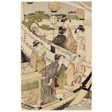 Torii Kiyonaga: A Boating Party on the Sumida - Honolulu Museum of Art