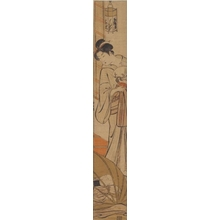 Torii Kiyonaga: A Mother Watching Her Seeping Boy - Honolulu Museum of Art