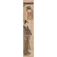 Torii Kiyonaga: A Young Woman Watching Youth - Honolulu Museum of Art