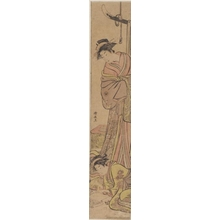 Torii Kiyonaga: A Yüjo watching Her Shinzö Write a Letter - Honolulu Museum of Art