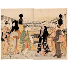 Torii Kiyonaga: Street Traffic at Nihonbashi - Honolulu Museum of Art