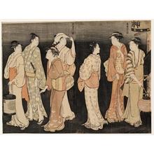 Torii Kiyonaga: The Seventh Month -Evening Send-Off - Honolulu Museum of Art