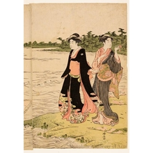 Torii Kiyonaga: The Sumida River Ferry - Honolulu Museum of Art