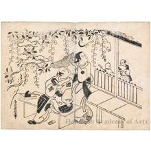 鳥居清信: Ichikawa Danjürö II as Hiranoya Tokubei and Sanogawa Mangiku as Temmaya Ohatsu - ホノルル美術館