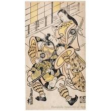 Torii Kiyonobu I: Sanjö Kantarö I and Ichimura Takenojö IV - Honolulu Museum of Art