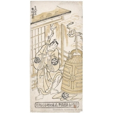 Torii Kiyonobu II: Ichimura Manzö as Soga no Gorö and Ichimura Uzaemon VIII as Soga no Jürö - Honolulu Museum of Art
