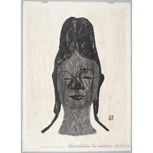 Asai Kiyoshi: Head of Moon Goddess - Honolulu Museum of Art