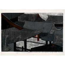 朝井清: Chinese Temple Nagasaki - ホノルル美術館