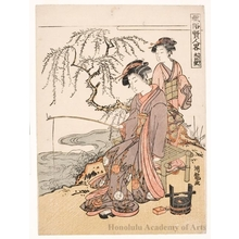 Isoda Koryusai: Fishing - Honolulu Museum of Art