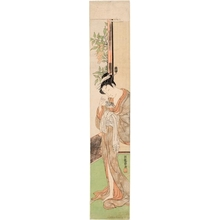 Isoda Koryusai: Courtesan with Pet Rat - Honolulu Museum of Art