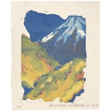 Onchi Koshiro: Poem, Mt. Fuji (Book Illustration) - Honolulu Museum of Art