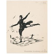 Onchi Koshiro: Skater (Descriptive Title) - Honolulu Museum of Art