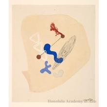 Onchi Koshiro: Poem 20 No.3: Fairy-tale in the Shells - Honolulu Museum of Art