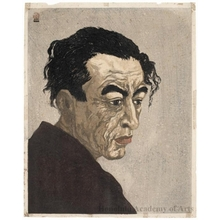 Onchi Koshiro: Author of Ice Isle (Hyötö): Portrait of Hagiwara Sakutarö - Honolulu Museum of Art