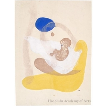 Onchi Koshiro: Image No.6 Motherhood (1) - Honolulu Museum of Art
