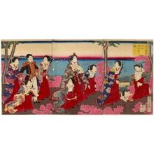 歌川国明: An Imperial Excursion to Maruyama in Shiba Park - ホノルル美術館