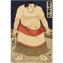 Utagawa Kunisada: The Sumö Wrestler Kumohayayama Tetsunosuke - Honolulu Museum of Art
