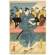 歌川国貞: Nakamura Fukusuke I as Hayano Kanpei - ホノルル美術館