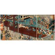 歌川国芳: Ashikaga Takauji's Judging Scene - ホノルル美術館