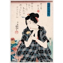 Utagawa Kuniyoshi: Poem by Ryükatei Tanekazu - Honolulu Museum of Art