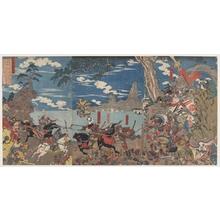 歌川国芳: Empress Jingü Kögö Invades Korea - ホノルル美術館