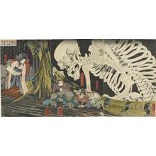 Utagawa Kuniyoshi: Takiyasha the Witch and the Skeleton Specter from the Story of Utö Yasutaka - Honolulu Museum of Art