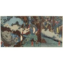 歌川国芳: In The Mountains - ホノルル美術館