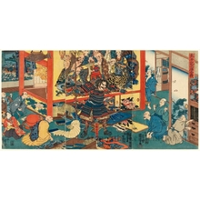 Utagawa Kuniyoshi: Battle of Hyögo - Honolulu Museum of Art