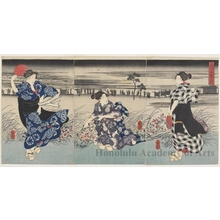 Utagawa Kuniyoshi: Evening on the Hacchöbori - Honolulu Museum of Art