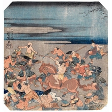 Utagawa Kuniyoshi: Battle Scene (descriptive title) - Honolulu Museum of Art