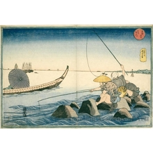 歌川国芳: Fishermen at Teppözu - ホノルル美術館