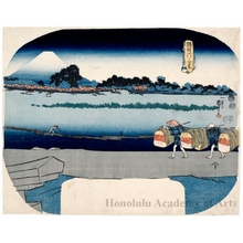 Utagawa Kuniyoshi: Fuji from Mimeguri - Honolulu Museum of Art