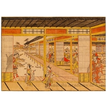 奥村政信: Soga Gorö at the Banquet of Wada no Yoshimori, from Soga Monogatari - ホノルル美術館