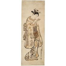 Okumura Masanobu: Beauty with a Mirror - Honolulu Museum of Art