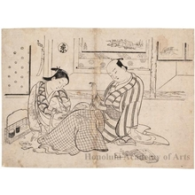Okumura Masanobu: Lovers Playing Five-In-A-Row - Honolulu Museum of Art