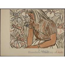 橋本興家: Young Woman and Iris - ホノルル美術館