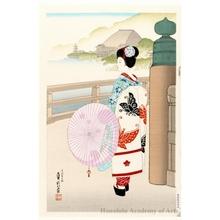 代長谷川貞信〈3〉: The Pass to The Kiyomizu Temple - ホノルル美術館