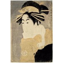 Toshusai Sharaku: Matsumoto Yonesaburö in the role of Courtesan Kewaizaka no Shöshö (Shinobu) - Honolulu Museum of Art