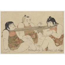 Kitao Shigemasa: Boys Playing at Tug-o-War - Honolulu Museum of Art