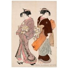 北尾重政: A Geisha and Her Servant - ホノルル美術館